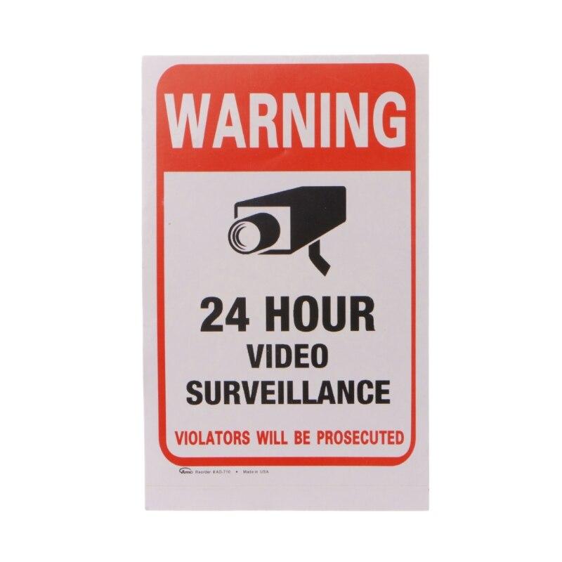 10pcs/lot Waterproof PVC CCTV Video Surveillance Security Sticker Warning Signs R9UA