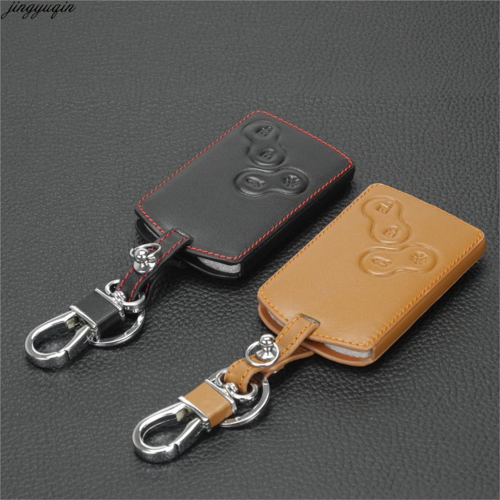 Funda de 4 botones para llave de coche para Renault Clio Scenic Megane pluster Sandero capture Twingo Koleos funda de teclado de control remoto