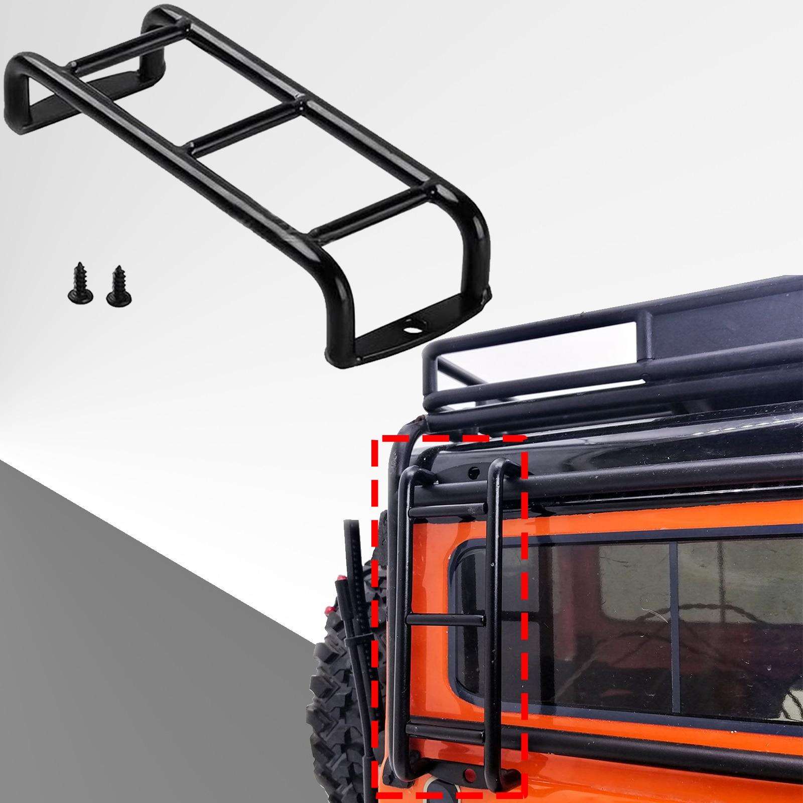 1 PCS Black Car Metal Mini Ladder Stairs Accessories For Traxxas TRX4 TRX-4 Bronco SCX10 90046 90047 D90 1/10 RC Crawler metal front bumper for traxxas trx 4 trx4 bronco 1 10 rc crawler model car