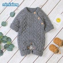Combinaison à manches longues pour bébés   Vêtements tricotés, épais et chauds, pour nouveau-nés garçons et filles, tenues pour nourrissons et enfants