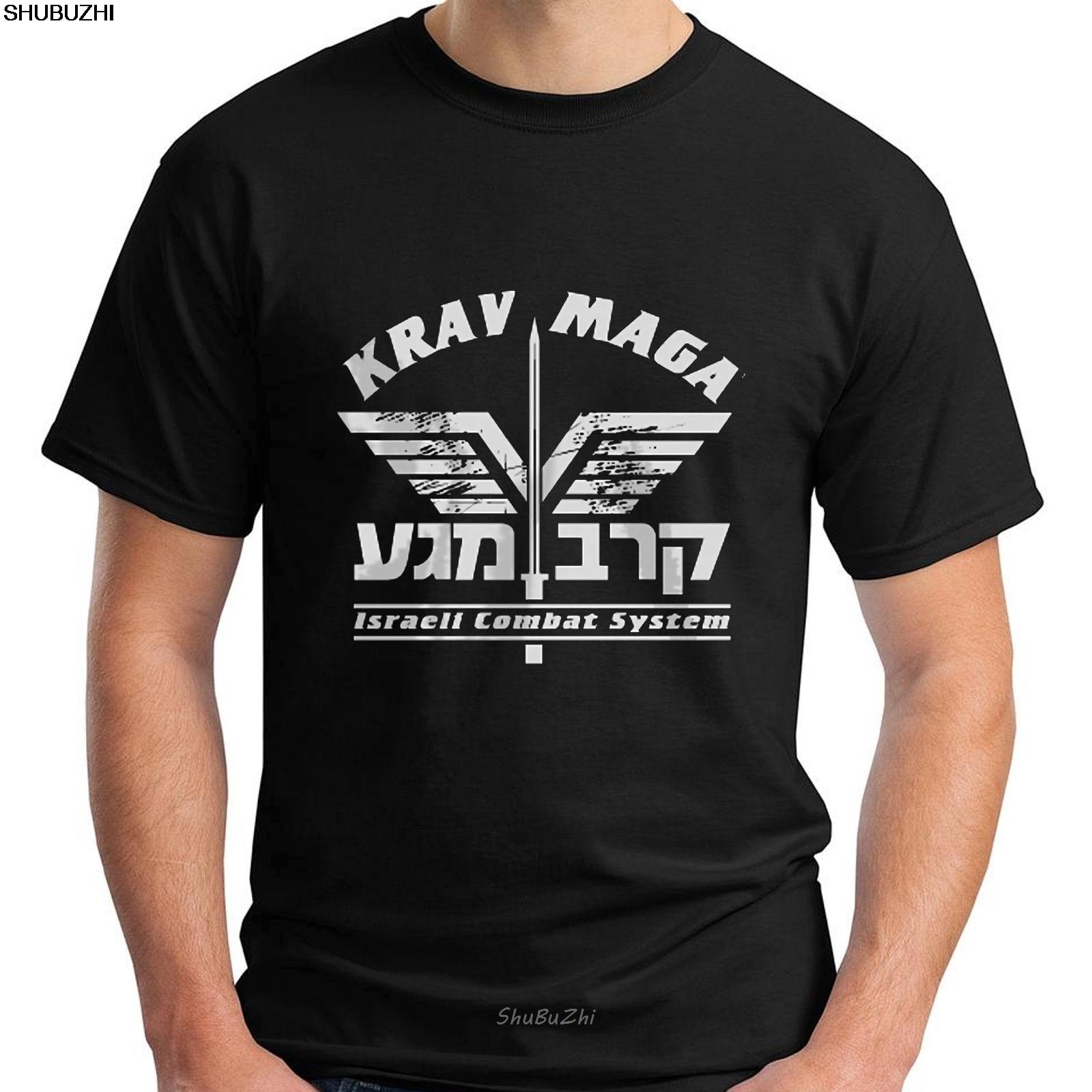 Nuevo Krav Maga defensa personal IDF Israel artes marciales camiseta negra para hombres Cool Casual pride camiseta hombres Unisex nuevo sbz3415