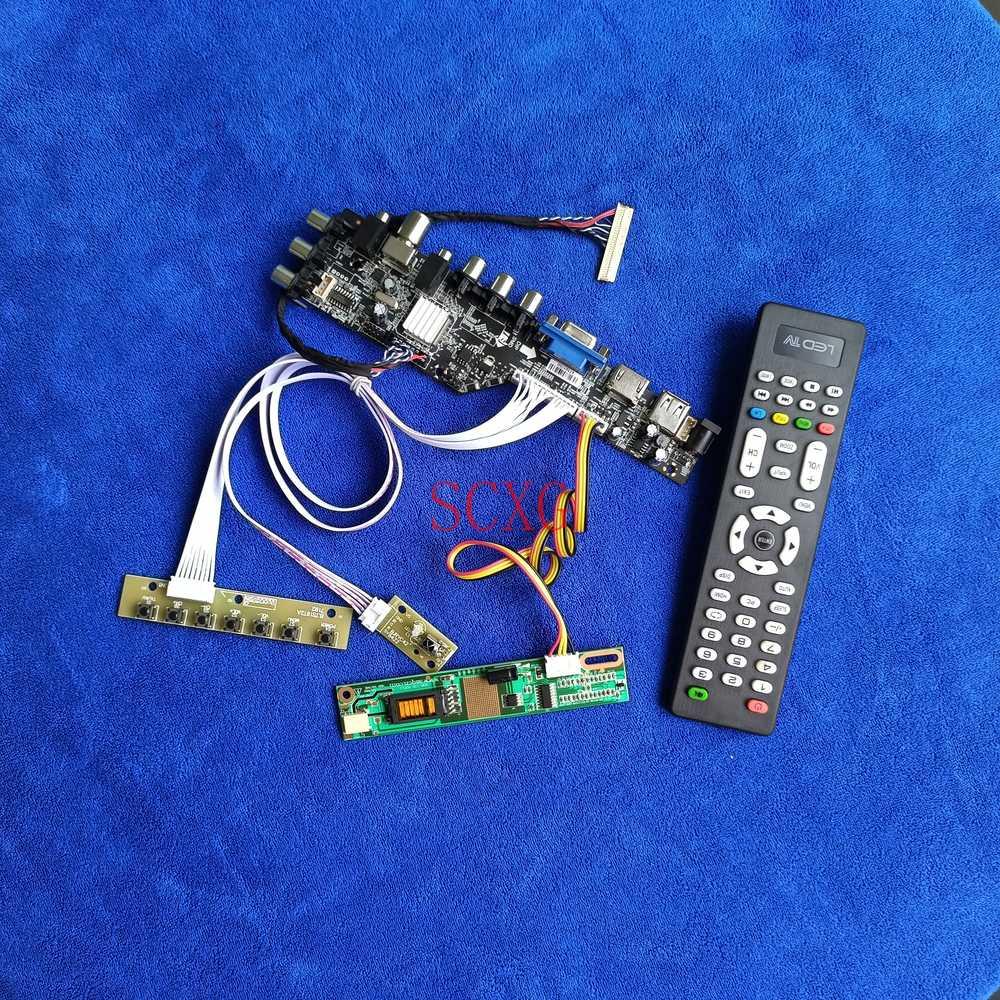LVDS 30-Pin 1280*800 شاشة LCD كارت قيادة HDMI متوافق VGA AV USB DVB صالح رقمي LTN141AT02/LTN141AT07/LTN141AT13 1CCFL KIT