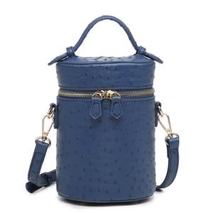 Fashion Round Crocodile Leather Box Bag Retro Bucket Women Tote Bag Brand Designer Korean Boxes Bag