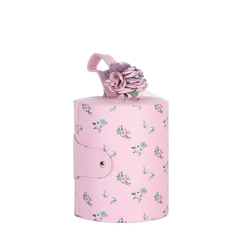 Simple packaging jewelry storage box creative round multi-layer portable packaging box outdoor portable jewelry box