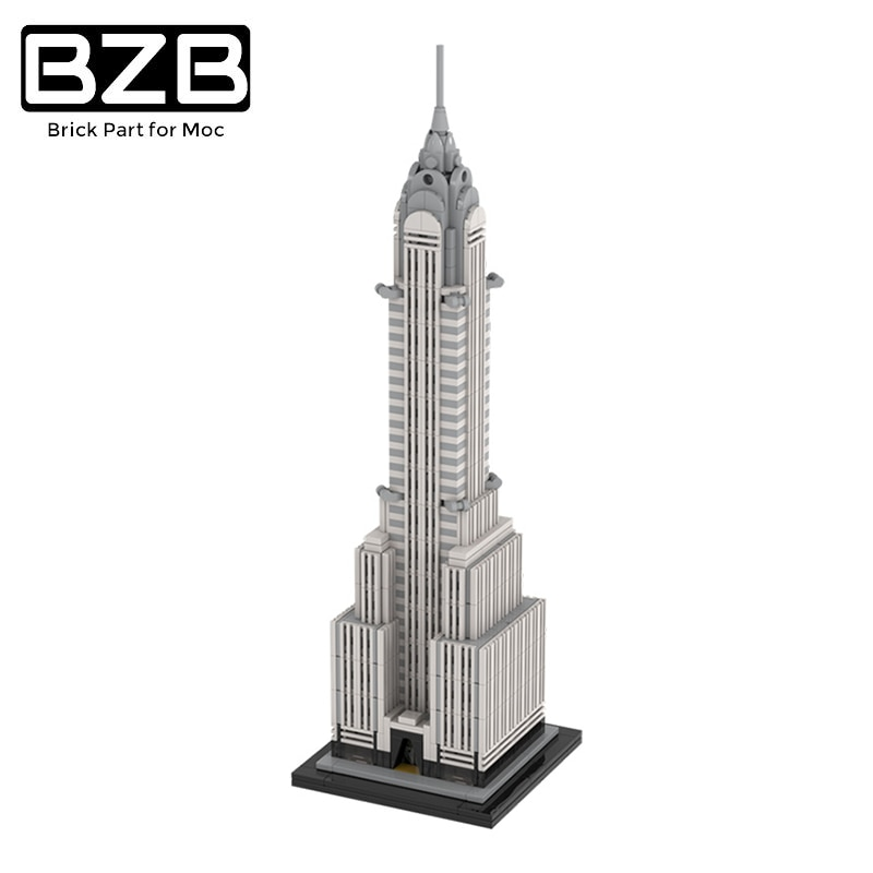 BZB MOC Classic Urban Street View Compatible With 30051 Antenna House Landmark Building Block Model  For Children DIY Toys Gifts