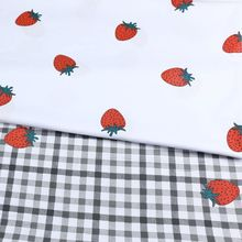 Strawberry Print Kids 100% Cotton Twill Fabric Cotton Bed Sheet Cloth For DIY Sewing Quilting Fat Qu