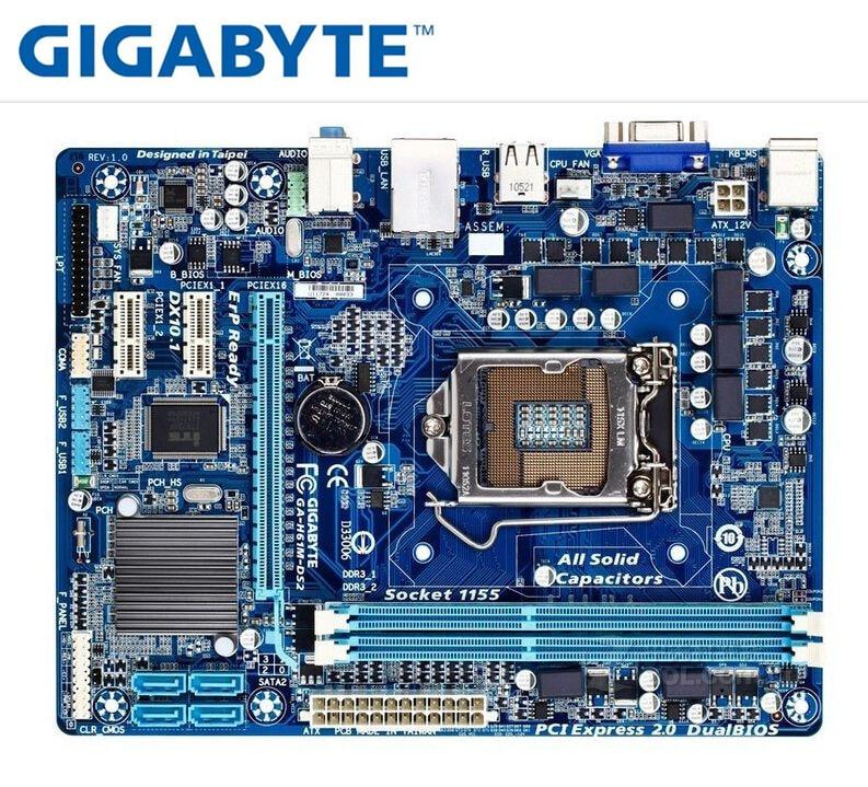 original mainboard for gigabyte GA-H61M-DS2 LGA 1155 DDR3 H61M-DS2 16GB support I3 I5 I7 H61 boards PC desktop motherboard