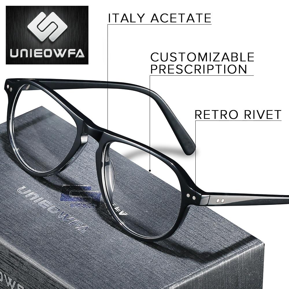 نظارات طبية من الأسيتات للرجال ، عدسات إيطالية عالية الجودة ، ثنائية البؤرة ، متطورة ، لقصر النظر ، مد البصر ، 1.74
