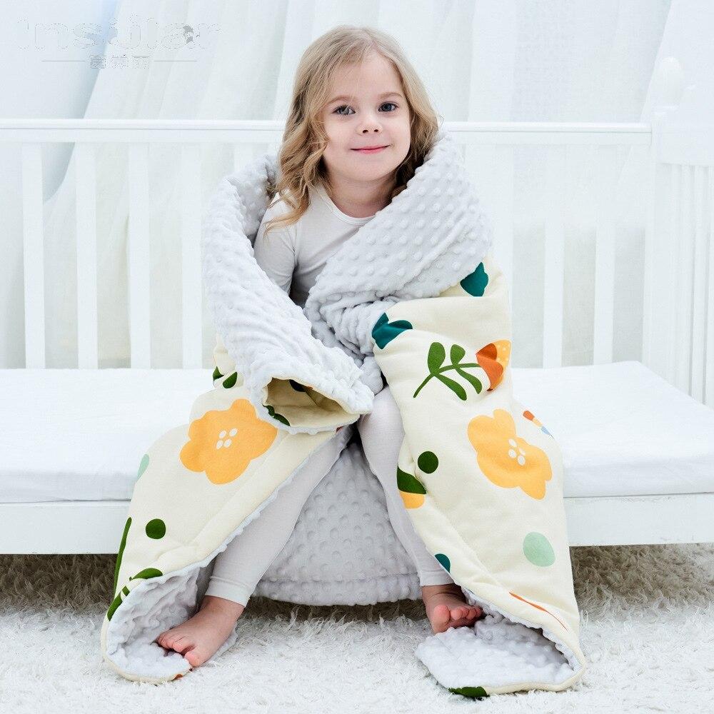 Newborn Baby Comfort Sleeping Banket 100% Cotton Minky Dot Quilt Cover Case Children Bedroom Beddings Comforting Sleeper Duvet