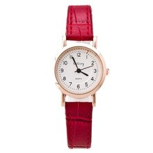 Popular fashion small dial ladies watch digital scale ladies belt watch trend double-sided student w