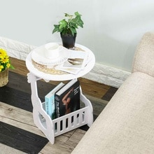 Small Round Coffee Table Bedside Table Tea Fruit Service Plate Tray Sofa Side Table Home Furniture Living Room Coffee Tables