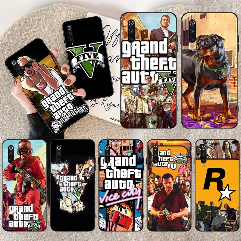 CUTEWANAN Action Adventure Game Grand Theft Auto Bling Cute Phone Case for Xiaomi Mi9 9SE 8SE Pocophone F1 Mi8 Lite