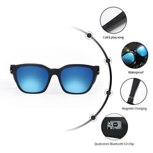 Smart Eyewear sunglasses Bluetooth With Blue Light Blocking Lens UV protection lens and Polarized su