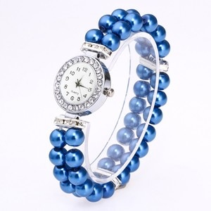 Womens Watch Fashion Women Casual Pearl String Watch Strap Quartz Wrist Watch Watches Women Fashion Watch 2020 Pearl Watch