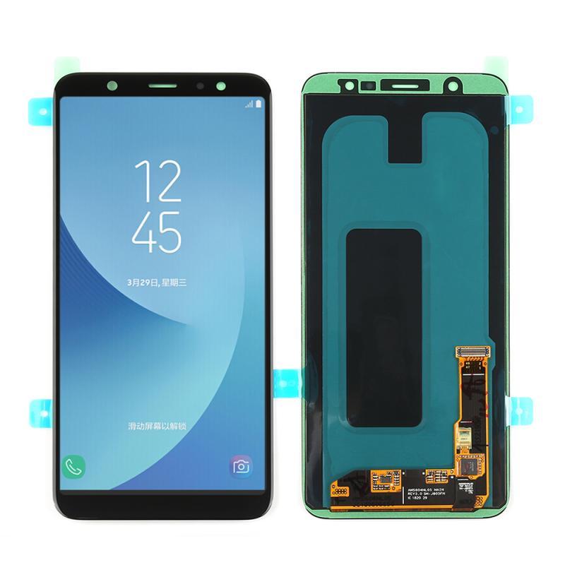 سوبر AMOLED LCD لسامسونج غالاكسي A6 2018 شاشة تعمل باللمس محول الأرقام لوحة الجمعية A6 Plus A6050 LCD A6050F العرض