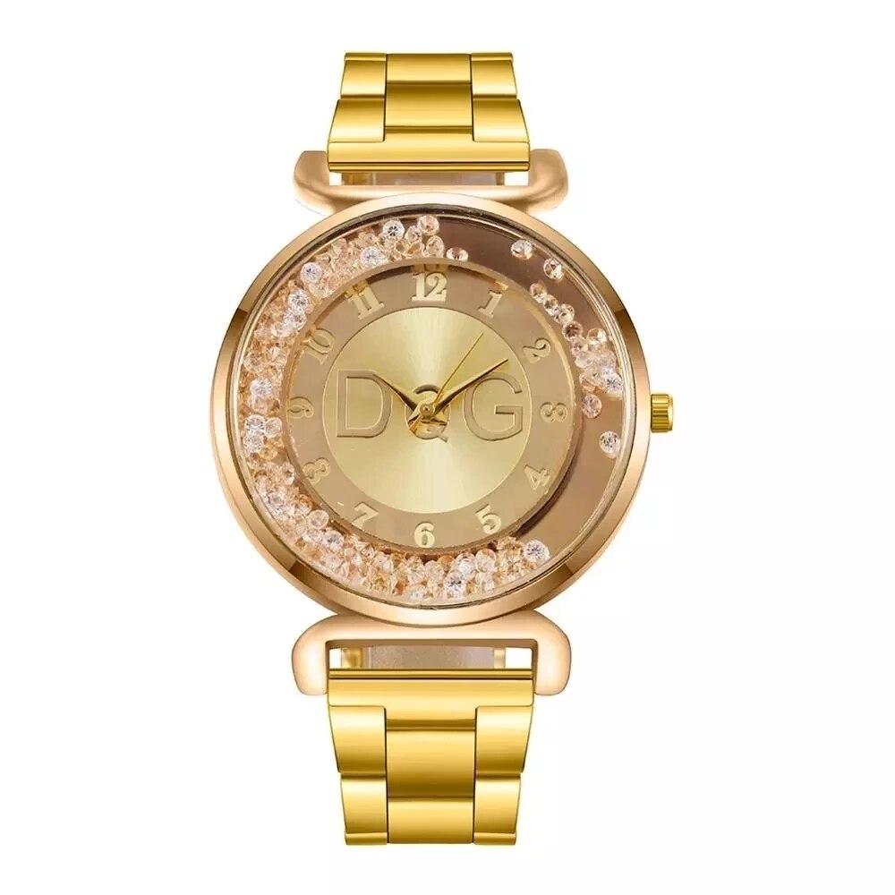 New Watch Top Luxury Gold Fashion Women Watches Casual steel Band Analog Quartz Clock Ladies Dress W