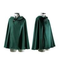 japanese hoodie attack on titan cloak gloves shingek no kyojin scouting legion costume anime cosplay green cape