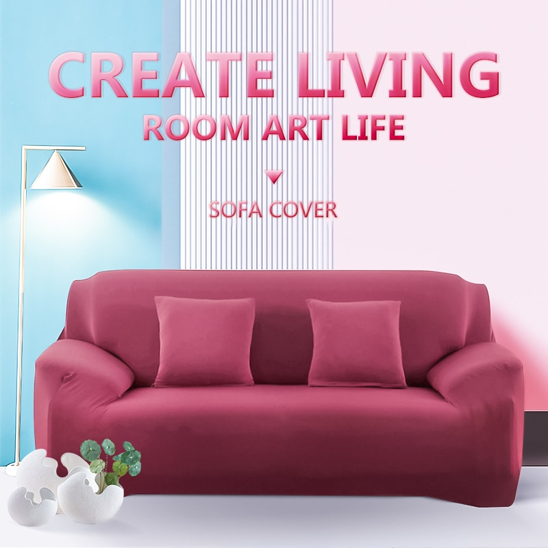 Meijuner Solid Color Elastic Sofa Cover Universal All-inclusive Anti-slip Couch Slipcover Furniture Protector For Dining Room