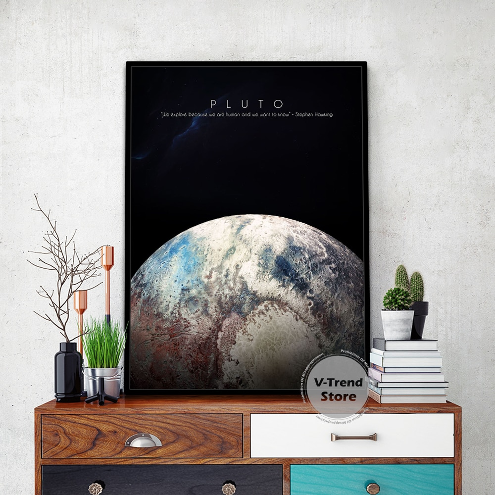 Universe Planet Solar System Poster Space Fantasy Landscape Earth Classroom Study Canvas Painting Wall Living Room Home Decor