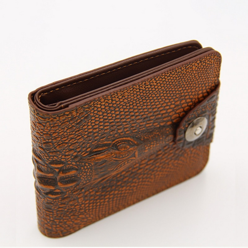 PU Leather Classic Gift Wear Resistant Exquisite Multi Pocket Purse Men Wallet Practical Card Holder