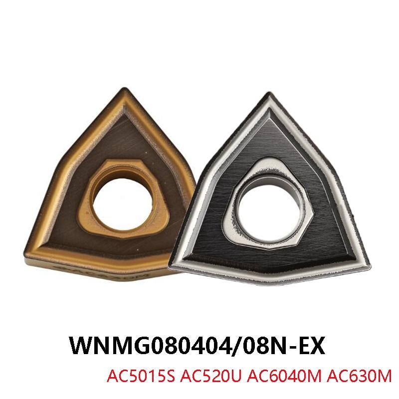 الأصلي WNMG WNMG080412 WNMG080404 WNMG080404N-EX WNMG080408N-EX WNMG080412N-EX AC520U AC5015S AC6040M AC630M كربيد إدراج