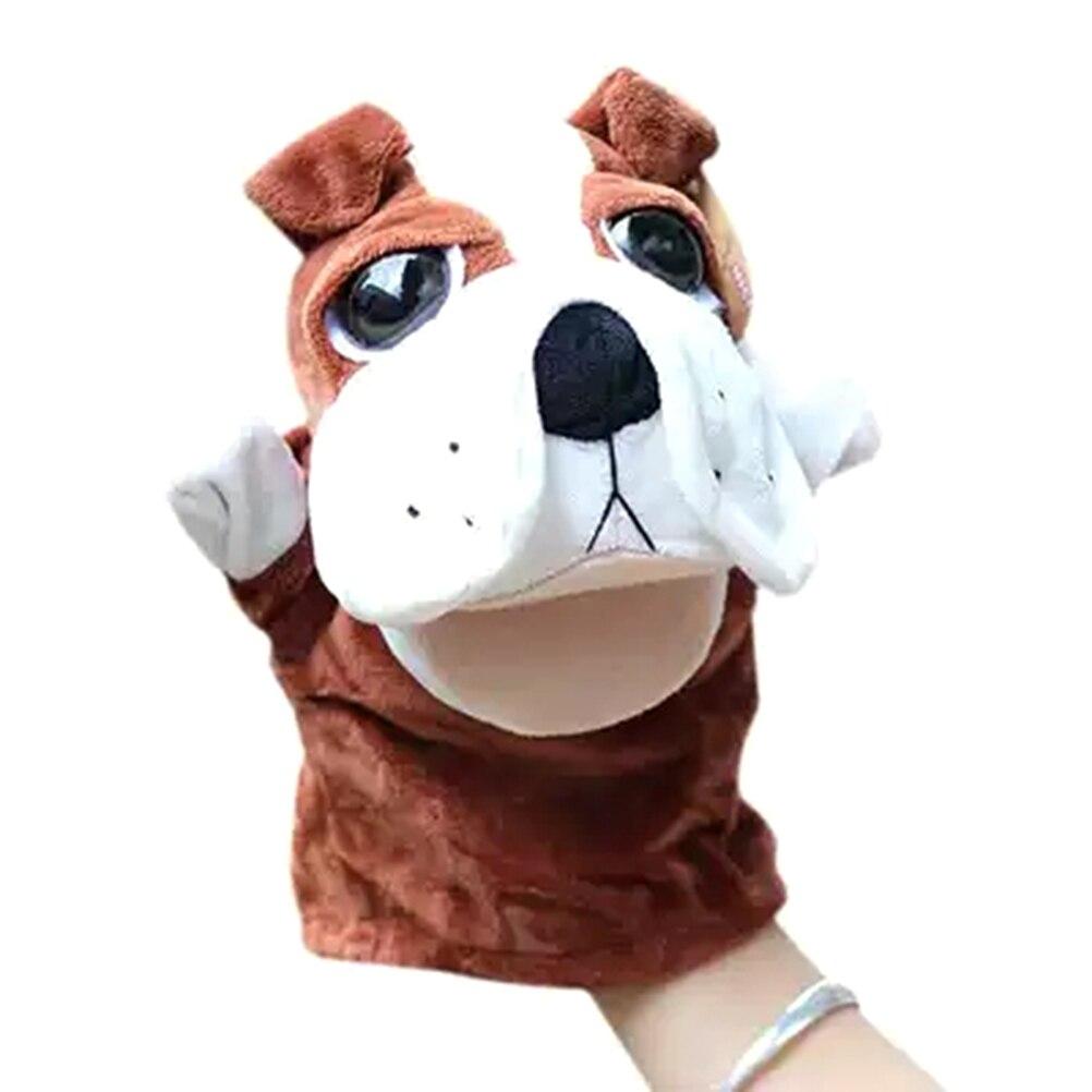 Animal perro con ojos grandes, marioneta de mano, juguete para niños, dedo Animal, títeres de guante de mano, juguete para niños, muñeca de mano, regalo, envío directo #50