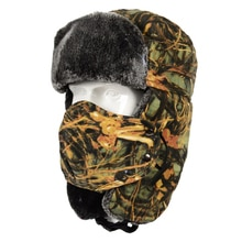 Unisex Bomber Hat Thickening Cycling Warm Camouflage Winter Protective Windproof Riding Skiing Ear F