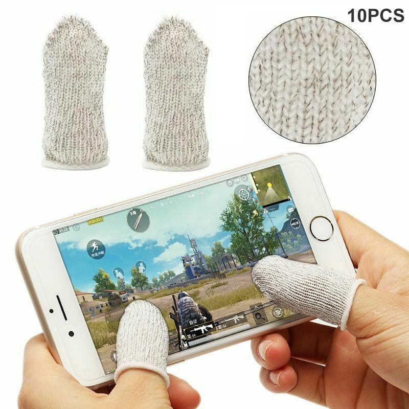 Funda para el dedo móvil 10 Uds. Controlador de juego sensible a prueba de sudor botones de apuntar para PUBG PUO88