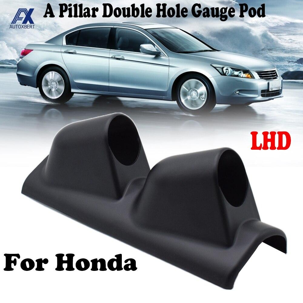 Un pilar Pod LHD 52mm soporte de vaina de doble agujero Dash Panel taza para Honda Civic Accord tipo-R EK3 Del Sol EG JDM CRX ajuste S2000
