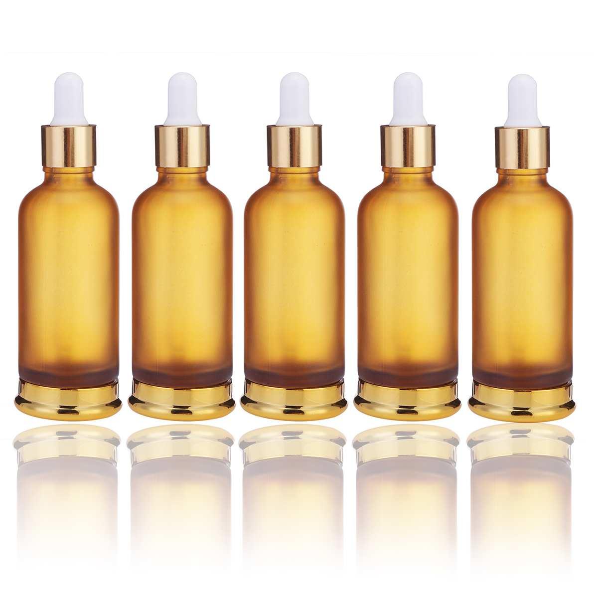 Botella de vidrio ámbar con gotero de alta calidad, 20/30/50ml, aceite esencial,...
