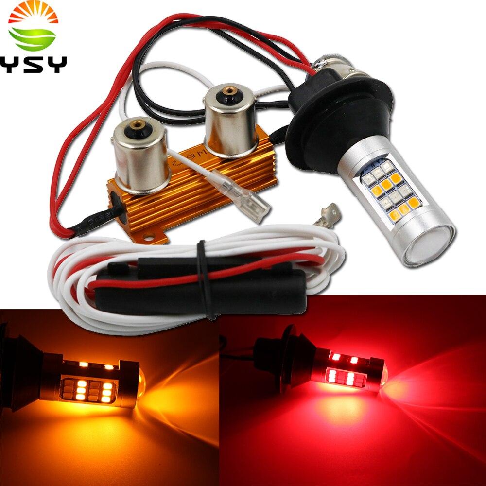 Для автомобильного освещения 2шт 1156 высокомощный двухцветный СВЕТОДИОДНЫЙ Переключатель P21W S25 BA15S 2835 42 светодиодный дневный ходовой сигнальный фонарь
