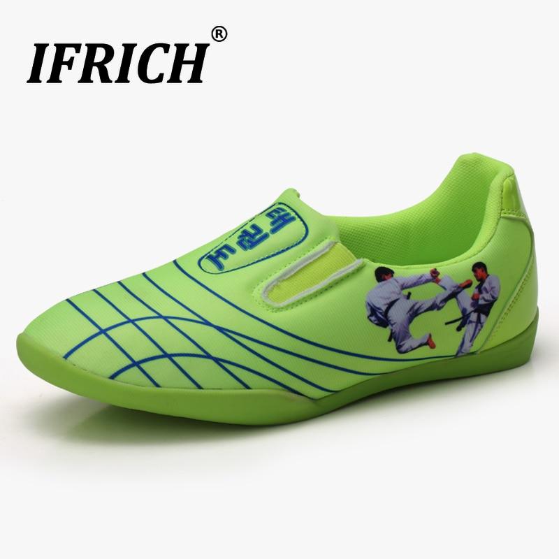 Boys Girls Taekwondo Karate Shoes Slip on Sneakers Kids Sport Fencing Shoes Man Chinese Kung Fu Shoes Taichi Martial Arts Child