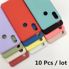 10 pièces/lot étui en Silicone souple véritable liquide pour Xiaomi mi 10 étui mi 8 9 se lite mix 2 3 max 3 Plus CC9 mi 9T Pro housse de téléphone