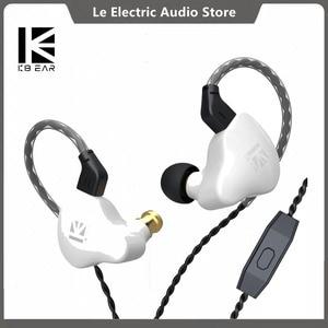 KBEAR KS1 Dual Magnectic Circuit Dynamic HIFI In Ear Earphone DJ Monitor Running Sport Headset Metal Earbud with Mic IEM Stellar