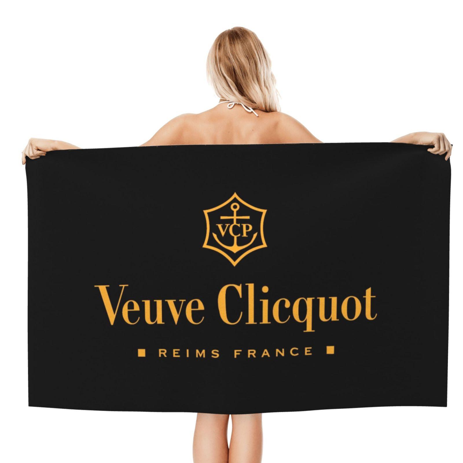 Veuve Clicquot مناشف الشاطئ الشمبانيا ، XL فوط استحمام ، تصميم شخصي ، سحابة الرمال الفاخرة مناشف الشاطئ _ mystyj025