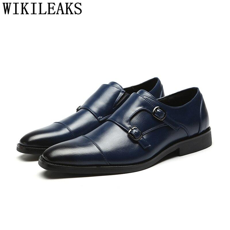 Zapatos Oxford con doble correa de monje para Hombre, calzado de vestir,...