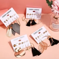 2021 summer new earrings for women 6 piece set fashion jewelry sexy style free shipping