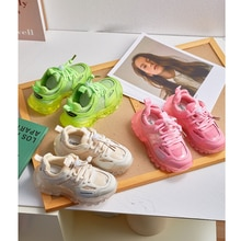 Autumn Kids Sport Sneakers Baby Boys Brand Chunky Sneakers Children Slip On Casual Sneakers Girls Be