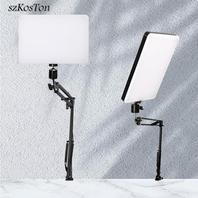 10 بوصة لوحة إضاءة LED مع حامل ذراع طويل 2700K-5700K التصوير ضوء التحكم عن بعد للبث المباشر فيديو صور مصباح