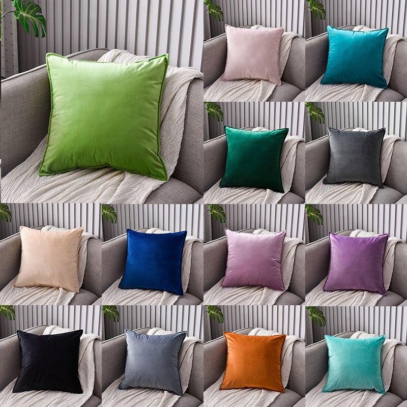 Вельветовый чехол для подушки декоративные подушки для дивана гостиной автомобиля Housse De Coussin 40*40 декоративные подушки Nordic Home Decor