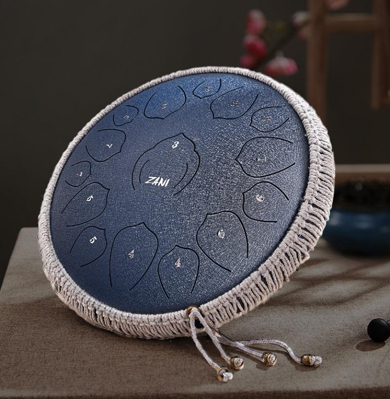 Tongue Drum Ethereal Drum 360x360mm Percussion Instruments Tune Steel Drum Tank Drums Percussion Instruments Handpan Gift Kid enlarge