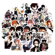 10/30/50pcs/pack Bungo Stray Dogs Japanese anime Stickers For Motorcycles Water cups Furniture Children's toy Luggage Skateboard