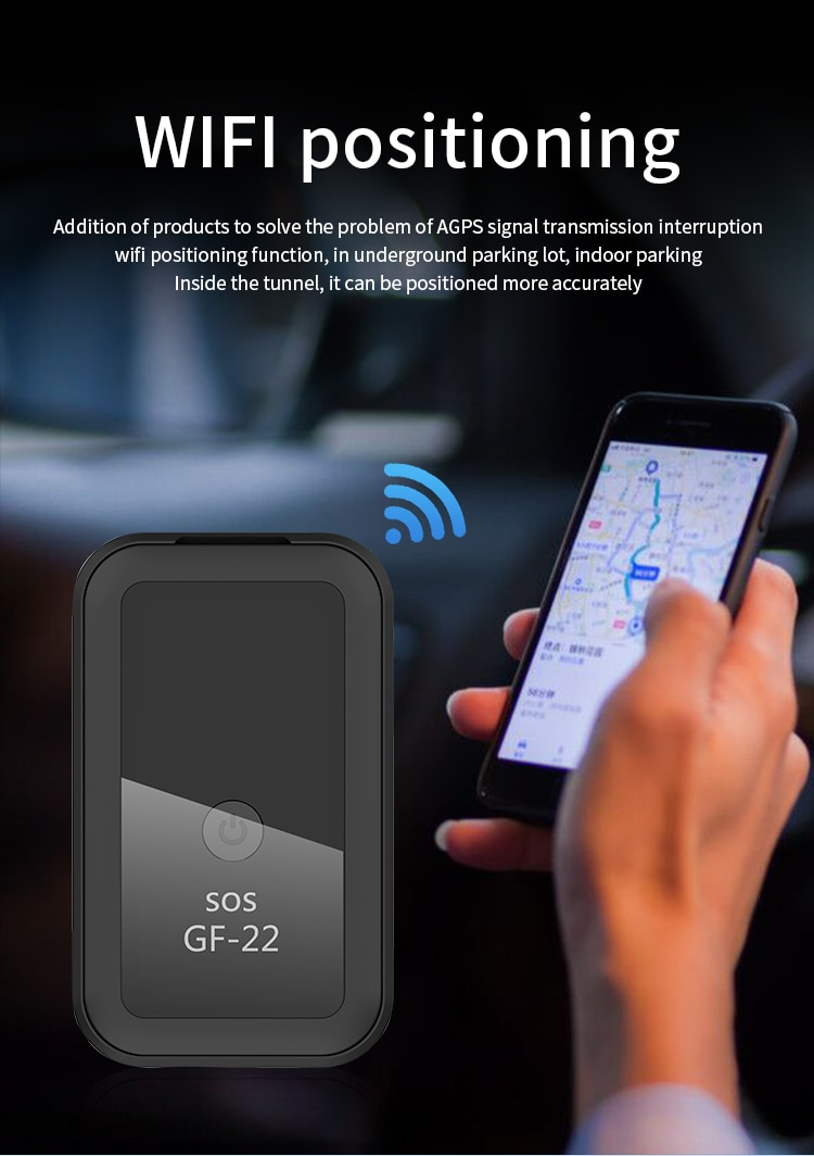 Multiple Functions GF22 Accuracy Car GPS Tracker Strong Magnetic Small Location Tracking Device Supports Power Saving Mode enlarge