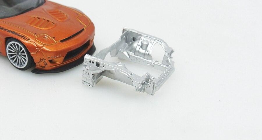 Bastidor de Rotor RX7 Manual hecho a escala 1/64 de resina, estructura interna, modificación de cuerpo, modelo de coche, decoración de escena de garaje