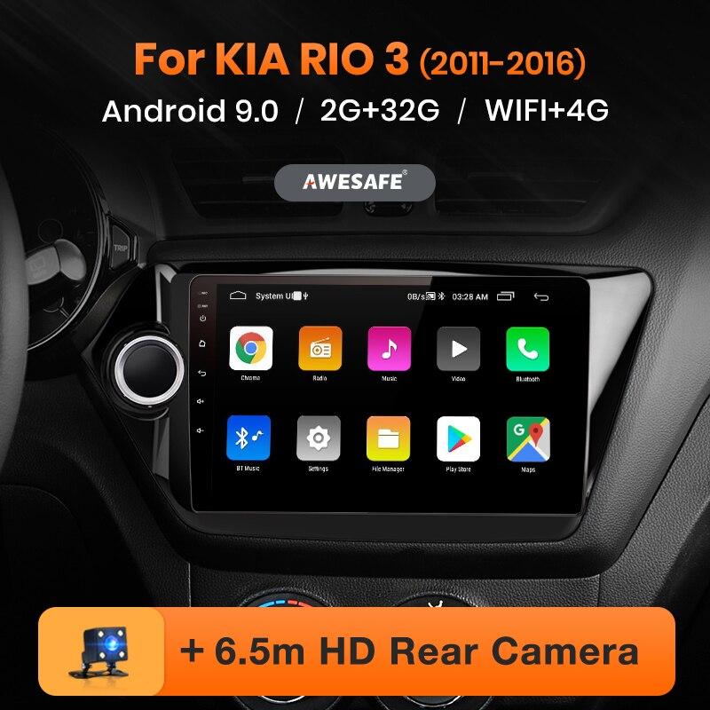 AWESAFE PX9 para KIA RIO 3, 2011, 2012, 2013, 2014, 2015, 2016 auto Radio Multimedia reproductor de video GPS No 2din 2 din Android 9,0 2GB + 32GB