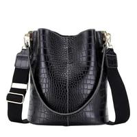 alligator pattern bucket bag for women vintage shoulder bag big capacity crossbody bag elegant shopping lady handbag purse