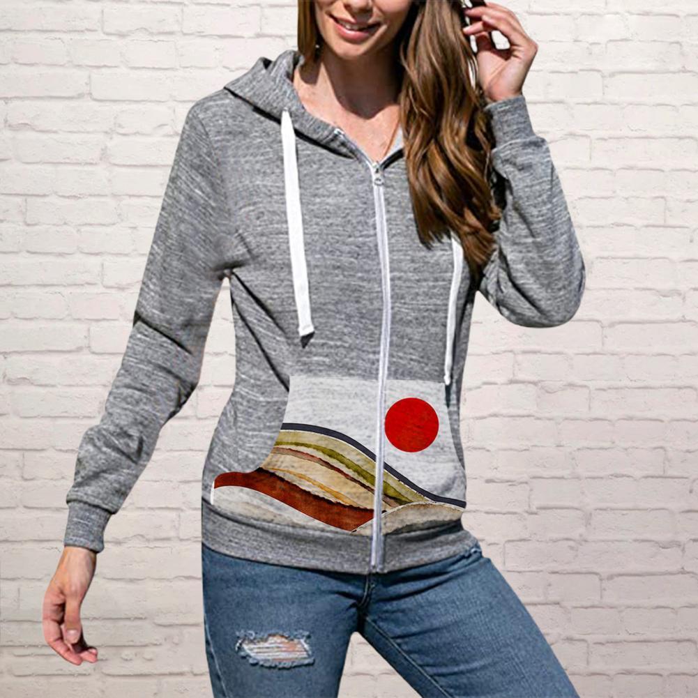 Стильные осенние свитера, куртки, Женская толстовка, теплый кардиган с карманами на кулиске, женские пуловеры, толстовка, пальто для повседн...