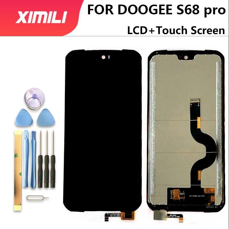 Novo 100% original 5.9 polegada doogee s68 pro display lcd + digitador da tela de toque assembléia lcd digitador toque para doogee s68pro ferramentas