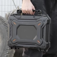 tactical hunting gun safety case camera protective case waterproof gun box with foam padded safety lock hard shell box