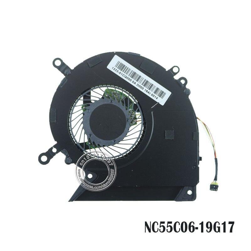 مروحة تبريد كمبيوتر محمول NC55C06 DC05V 0.50A-19G17 4PIN 1323-01CQ000